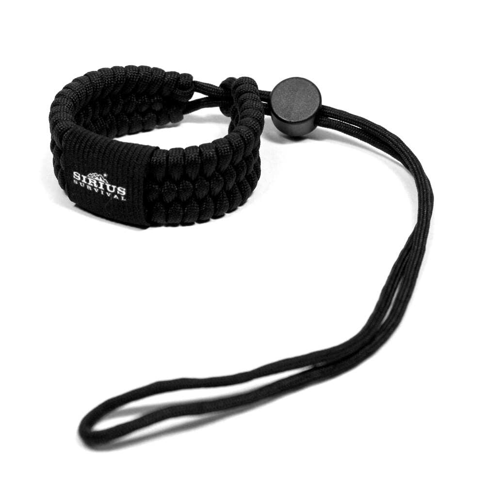 Paracord Camera Wrist Strap – Adjustable Size – 550lb Paracord – 4 Colors – Wrist Strap for Cameras, Binoculars & Other Hand Held Items (Black)-0