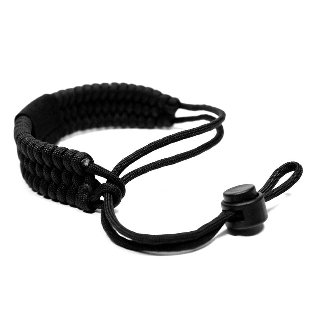 Paracord Camera Wrist Strap – Adjustable Size – 550lb Paracord – 4 Colors – Wrist Strap for Cameras, Binoculars & Other Hand Held Items (Black)-2418