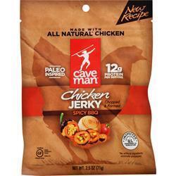 Caveman Foods Chicken Jerky - Spicy BBQ - 2.5 oz