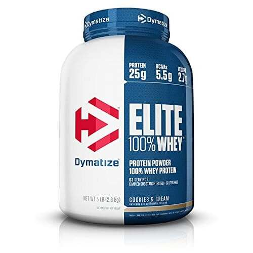 Dymatize Elite 100% Whey Protein - Cookies & Cream - 5 lbs (2,270g)
