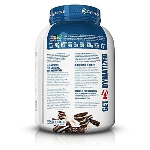 Dymatize Elite 100% Whey Protein - Cookies & Cream - 5 lbs (2,270g)-2257