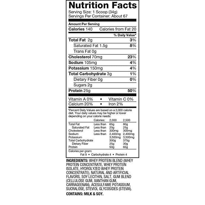 Dymatize Elite 100% Whey Protein - Vanilla Cupcake - 5 lbs (2,270g)-2286
