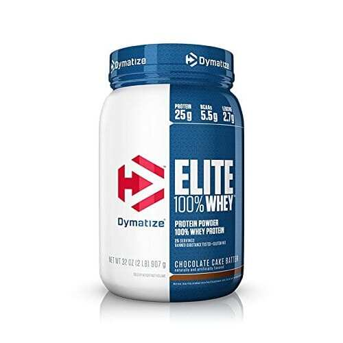 Dymatize Elite 100% Whey Protein - Chocolate Cake Batter - 2 lbs (907 g)
