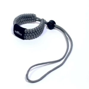 Paracord Camera Wrist Strap – Adjustable Size – 550lb Paracord – 4 Colors – Wrist Strap for Cameras, Binoculars & Other Hand Held Items (Gray)-0