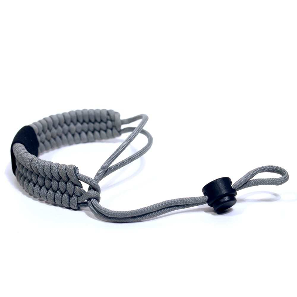Paracord Camera Wrist Strap – Adjustable Size – 550lb Paracord – 4 Colors – Wrist Strap for Cameras, Binoculars & Other Hand Held Items (Gray)-2403