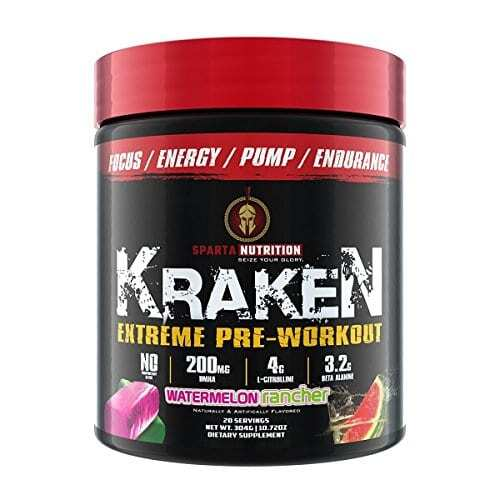 Sparta Nutrition Kraken Pre Workout - Watermelon - 40 Servings-0