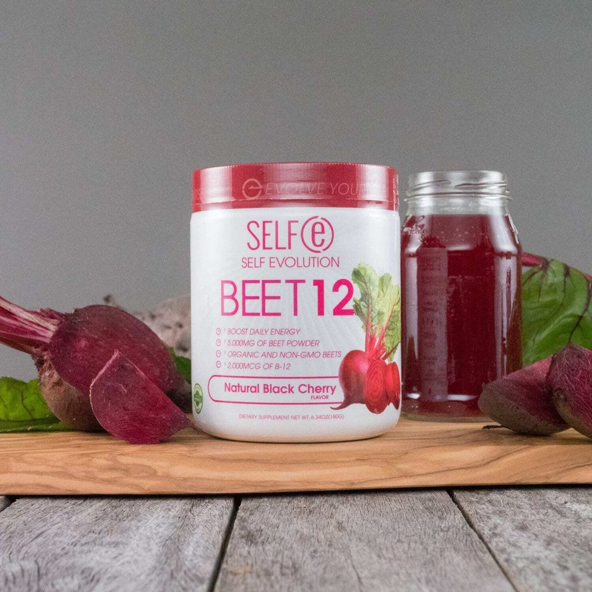 Selfe Beet 12 - Beetroot Powder Supplement Plus Vitamin B12 - Black Cherry - 30 Servings-2593