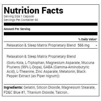 Relaxitrol Sleep Aid - 60 Capsules - Metabolic Nutrition-2667