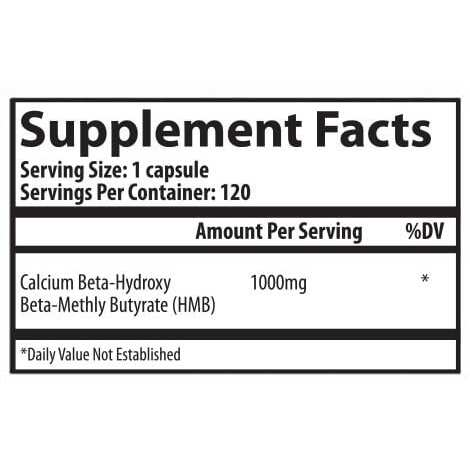 HMB 1000mg Supplement by Selfe - 120 Veggie Caps-2672