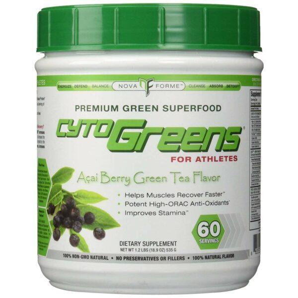 CytoGreens - Premium Green Superfood - Acai Berry Green Tea - 60 Servings-2902
