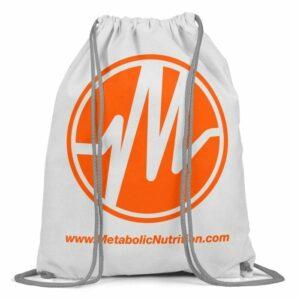 Metabolic Nutrition Drawstring Bag - Orange-0