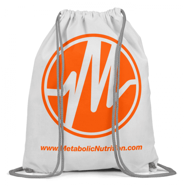 Metabolic Nutrition Drawstring Bag - Orange-0