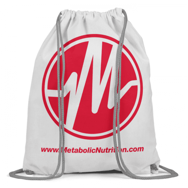 Metabolic Nutrition Drawstring Bag - Red-0
