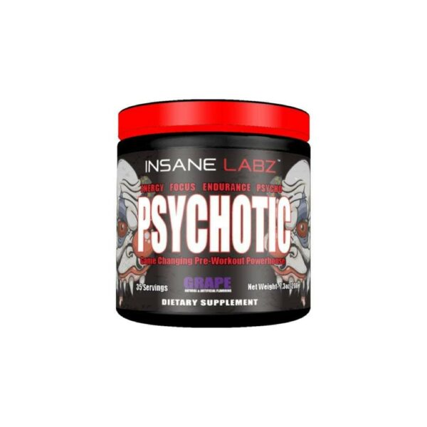 Psychotic Pre Workout by Insane Labz - Grape - 35 Servings-0