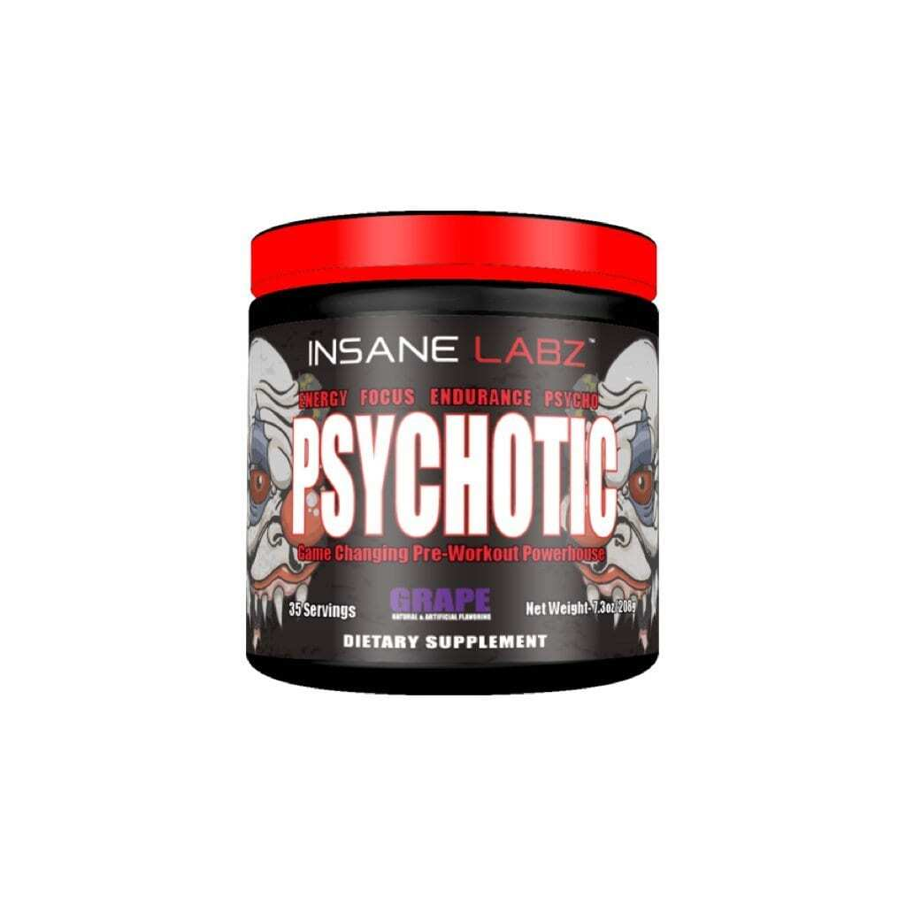 Psychotic Pre Workout by Insane Labz - Grape - 35 Servings-0