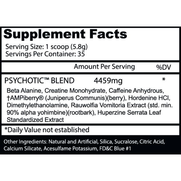 Psychotic Pre Workout by Insane Labz - Watermelon - 35 Servings-2863