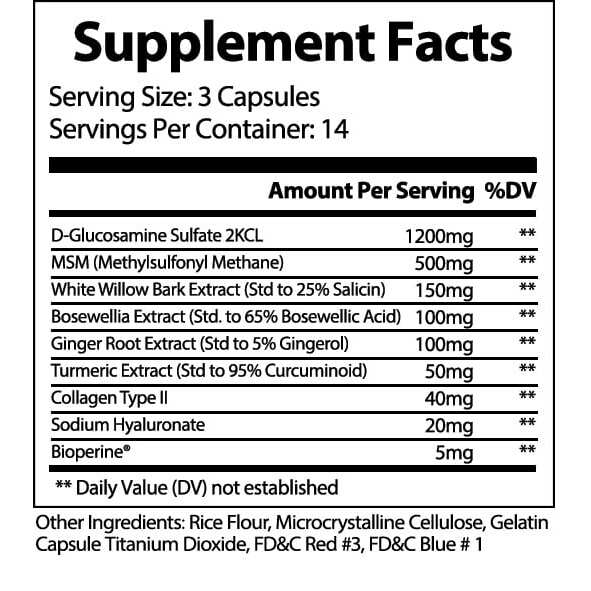 VivaFlex Superior Joint Support - 14 Day Trial Size 42 Capsules-2875