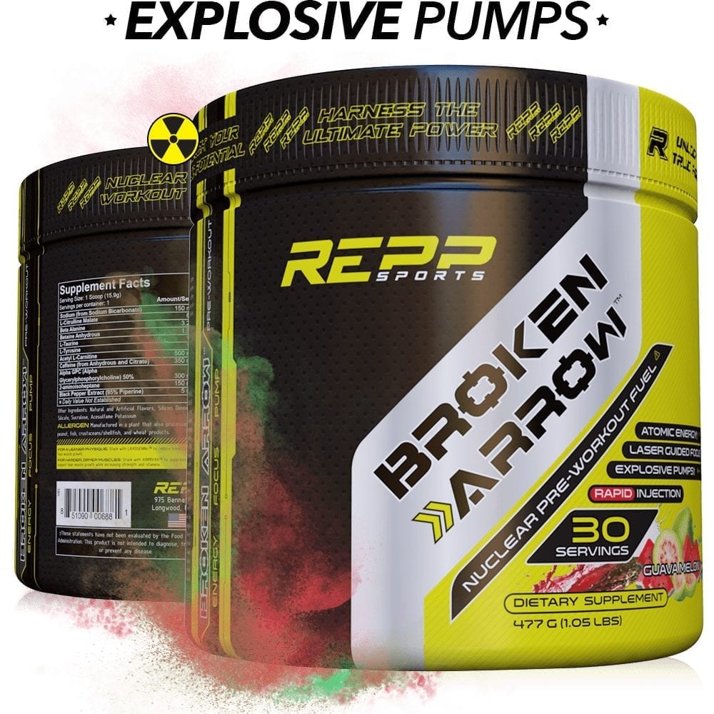 Repp Sports Broken Arrow - Elite Pre-Workout - Guava Melon ‑ 30 Servings-0