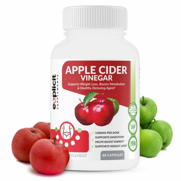 Apple Cider Vinegar Pills 1300mg 60 Capsules