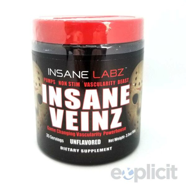 Insane Veinz - Unflavored - 35 Servings - Insane Labz-0