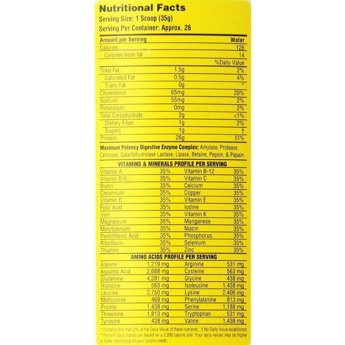 Metabolic Nutrition Protizyme, Vanilla Cake, 5 Pound-3035