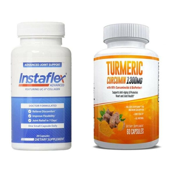 Instaflex Advanced and Turmeric Curcumin - Ultimate Joint Pain Relief Combination – 1 Month Supply-0