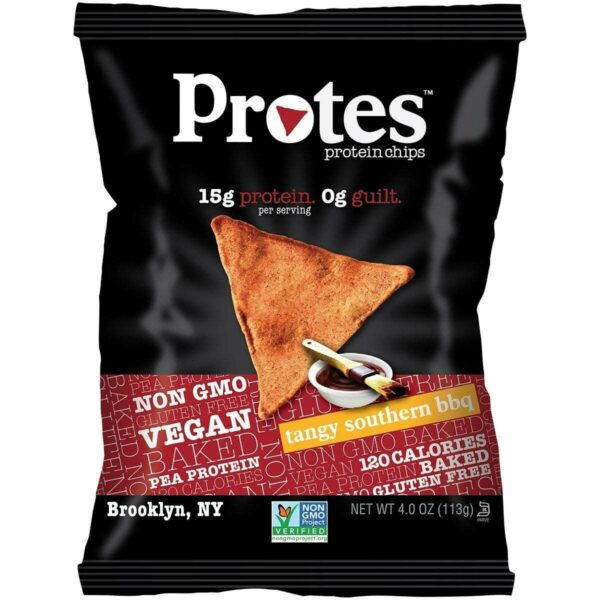 Protes Protein Chips - Tangy Southern BBQ - 24 - 1 oz. Bags - EXP 5/18-0