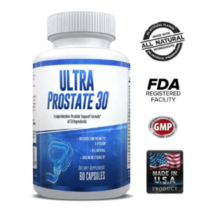 Ultra Prostate 30 – Comprehensive All Natural Prostate Support Formula for Men – Saw Palmetto, Pygeum, Plant Sterol Complex & 27 More – 1 Month-0