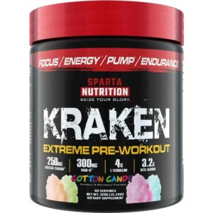Sparta Nutrition Kraken Pre Workout - Cotton Candy - 40 Servings-0