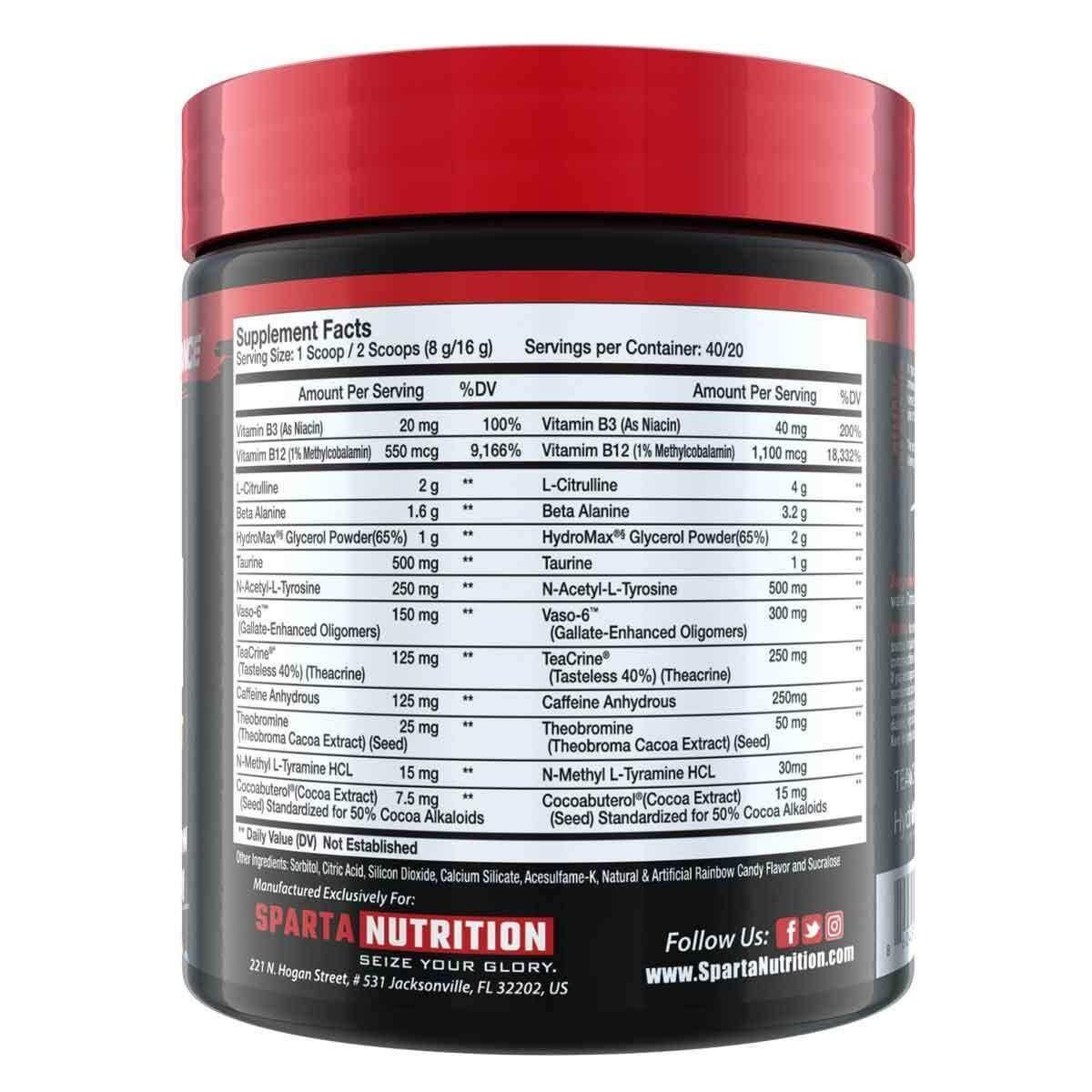 Sparta Nutrition Kraken Pre Workout - Cotton Candy - 40 Servings-3096