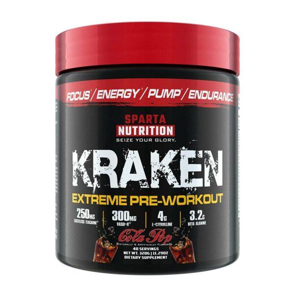 Sparta Nutrition Kraken Pre Workout - Soda Pop - 40 Servings-0