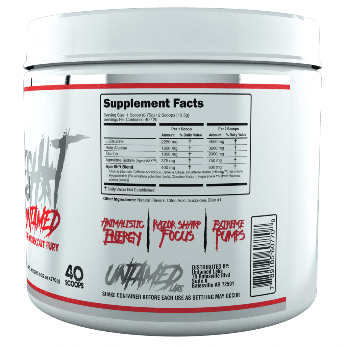 Primeval Labs Ape Sh*t Untamed - Pre-Workout - Smashberry - 20/40 Servings-3118