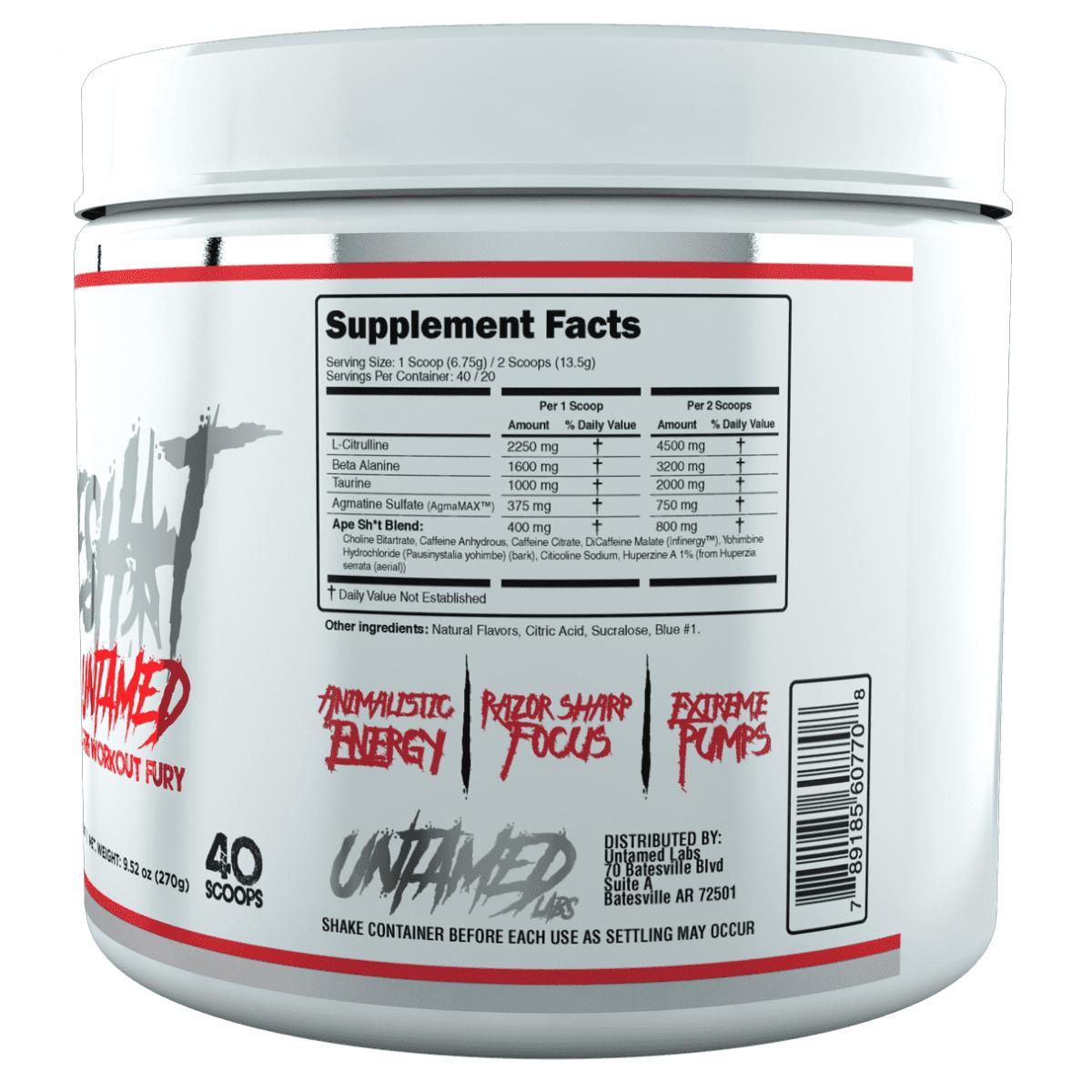 Primeval Labs Ape Sh*t Untamed - Pre-Workout - Strawberry Lemonade - 20/40 Servings-3120