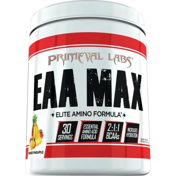 Primeval Labs EAA Max - Elite Amino - Mango Pineapple - 30 Servings-0