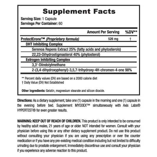 Myodex - Advanced Testosterone - By Axis Labs - 60 Capsules -3159