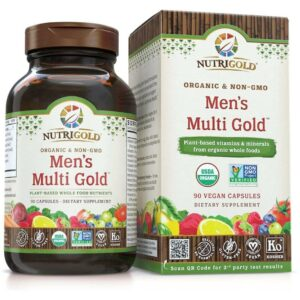 Nutrigold Mens Organic Multi Gold - 90 Veggie Caps-0