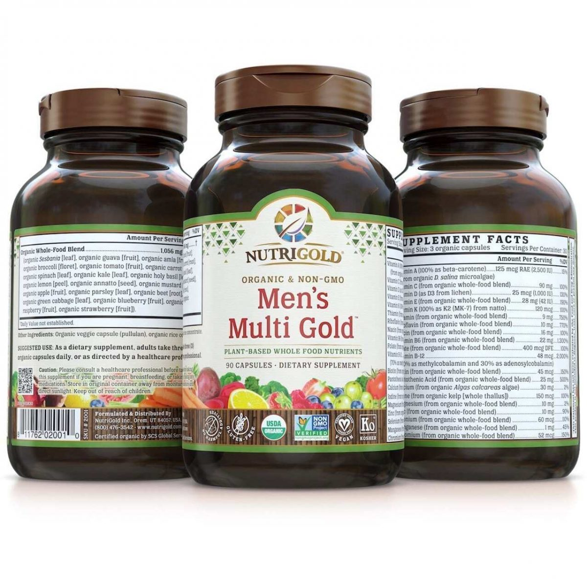 Nutrigold Mens Organic Multi Gold - 90 Veggie Caps-3180