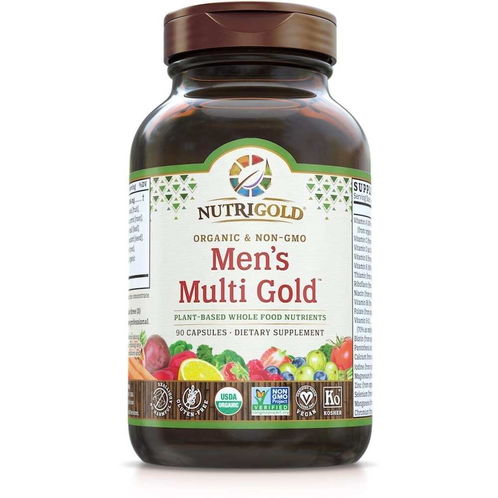 Nutrigold Mens Organic Multi Gold - 90 Veggie Caps-3177