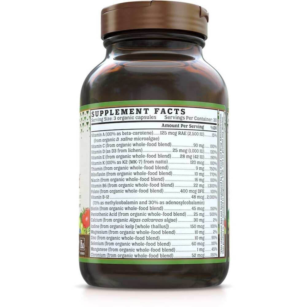 Nutrigold Mens Organic Multi Gold - 90 Veggie Caps-3178