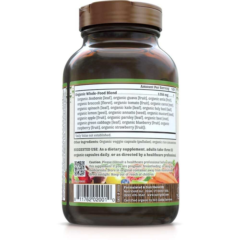 Nutrigold Mens Organic Multi Gold - 90 Veggie Caps-3179