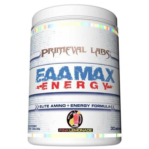 Primeval Labs EAA Max Energy - Elite Amino & Energy - Pink Lemonade - 30 Servings-0