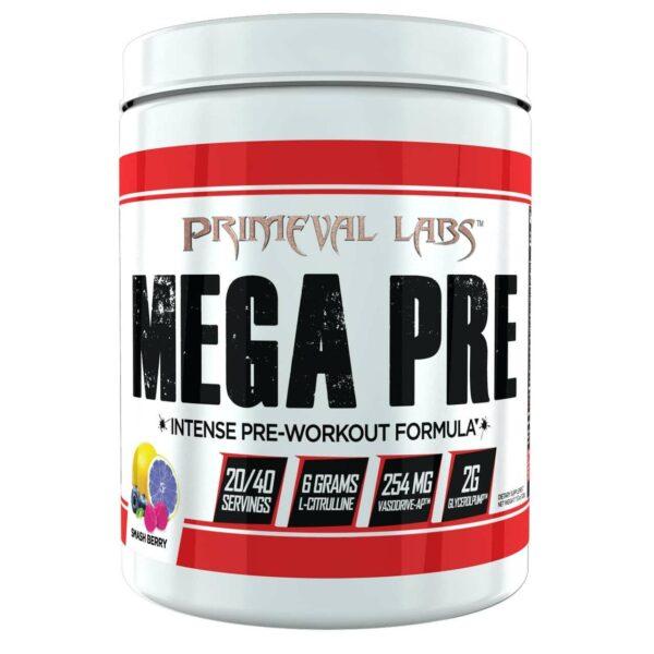Primeval Labs Mega Pre - Pre Workout - Smashberry - 20/40 Servings-0