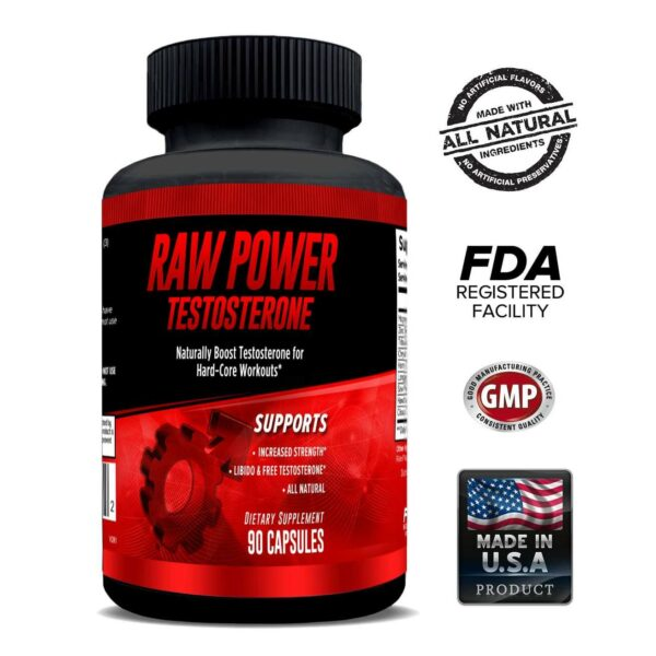 Raw Power Testosterone Booster - 90 Capsules - 30 Servings By Explicit Supplements-0