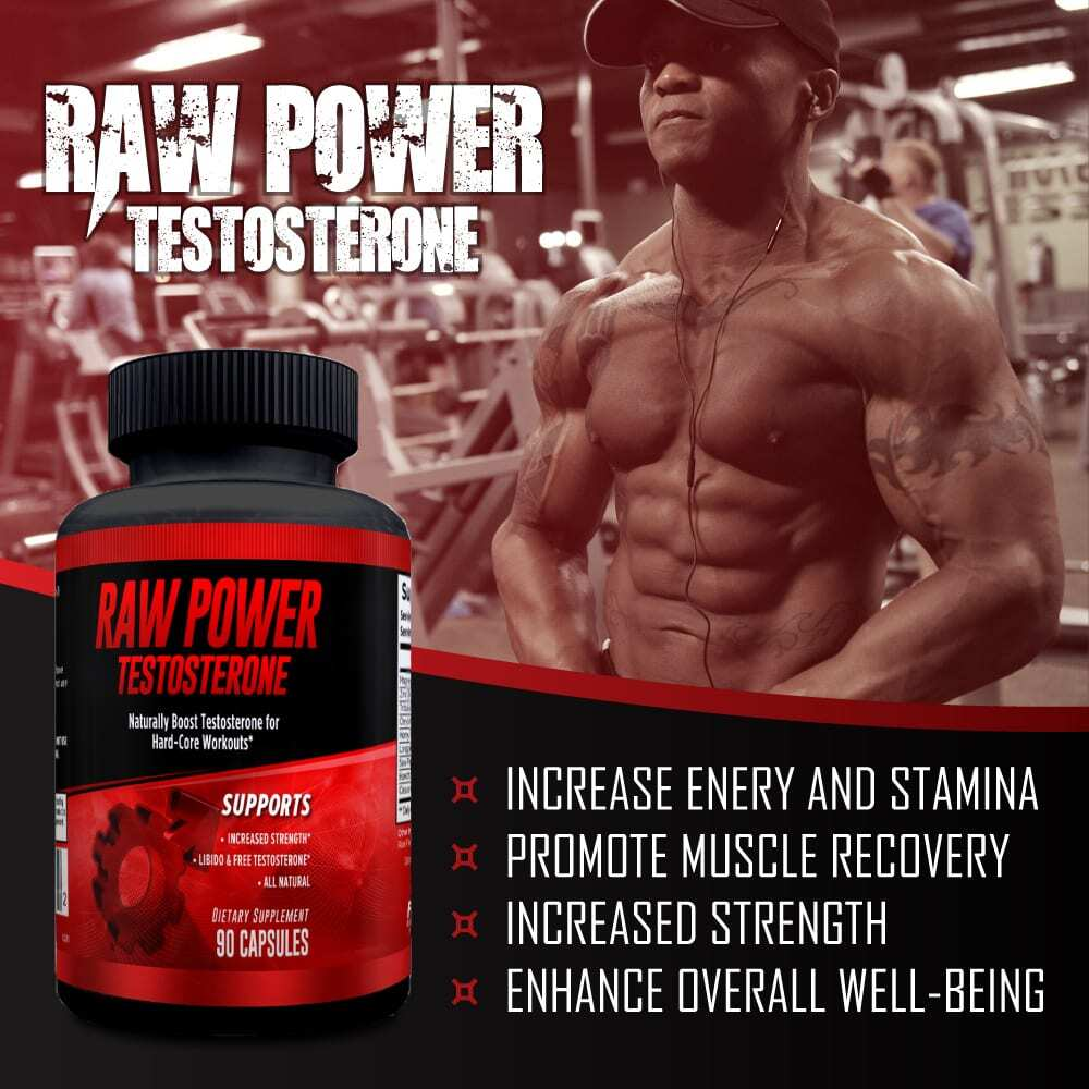 Raw Power Testosterone Booster - 90 Capsules - 30 Servings By Explicit Supplements-3223