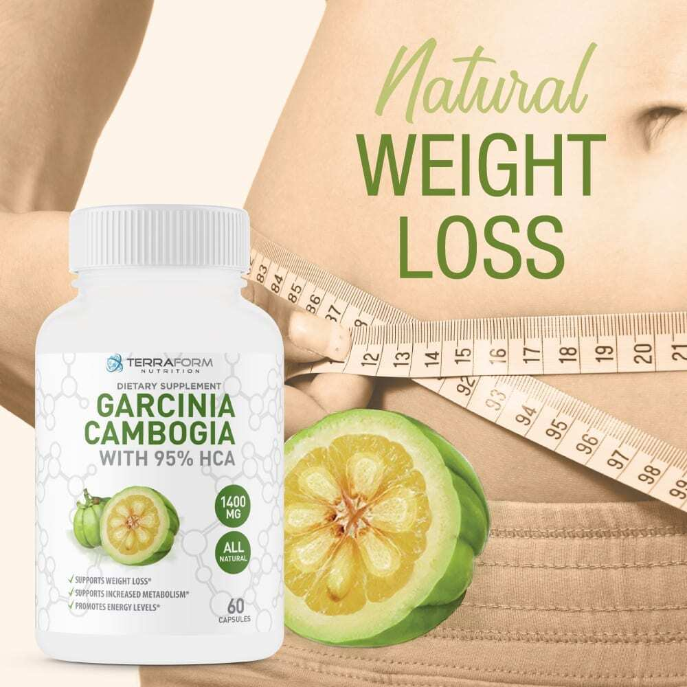 100% Pure Garcinia Cambogia Extract – 95% Natural HCA 1400mg – 60 Capsules - TerraForm Nutrition-3260