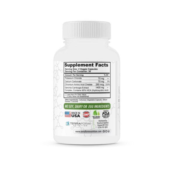 100% Pure Garcinia Cambogia Extract – 95% Natural HCA 1400mg – 60 Capsules - TerraForm Nutrition-3258