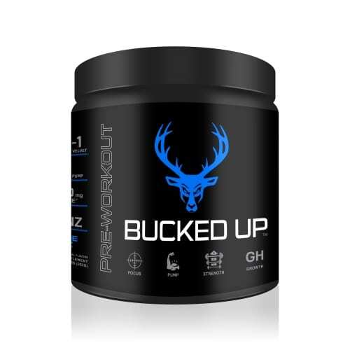 Bucked Up Pre Workout - Blue Raz - 30 Servings - DAS Labs -0