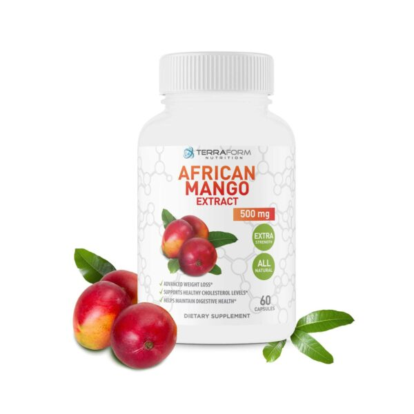 Pure African Mango Extract Pills – 500mg of Irvingia Gabonensis – Made in USA – 1 Month - TerraForm Nutrition-0