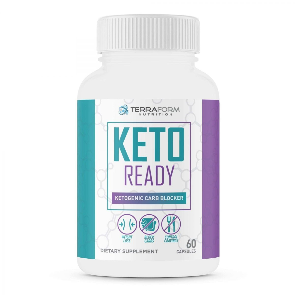 Keto Ready - Max Strength Keto Carb Blocker 1200mg – 60 Capsules - TerraForm Nutrition-3320