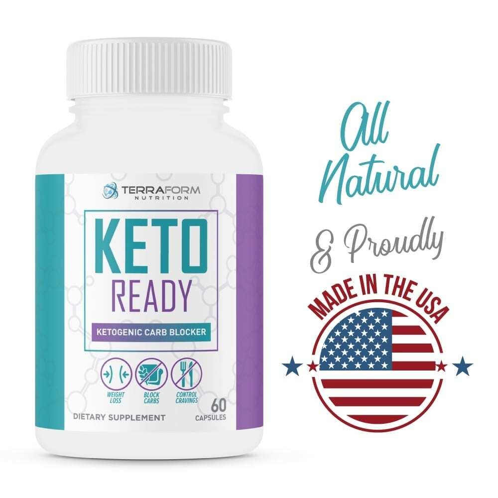 Keto Ready - Max Strength Keto Carb Blocker 1200mg – 60 Capsules - TerraForm Nutrition-3327